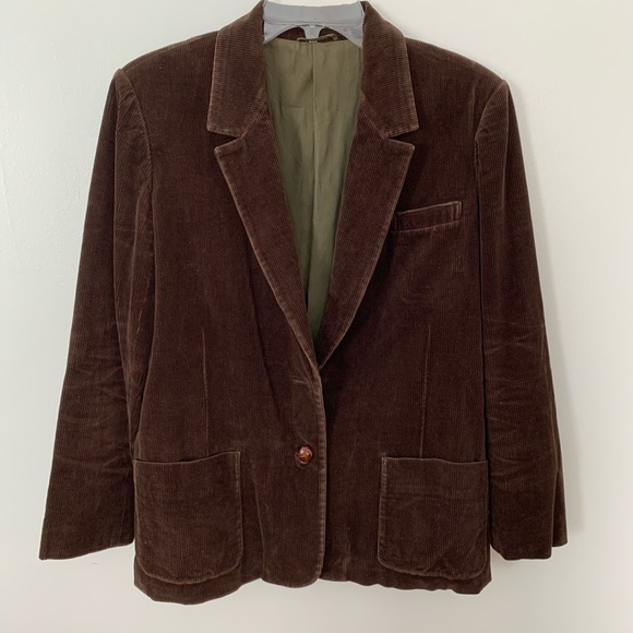 Sears Jackets & Blazers - VTG Sears and Roebuck Blazer - corduroy brown sz16